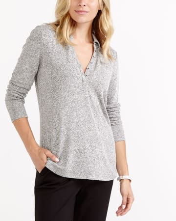 Polo Collar Henley Top