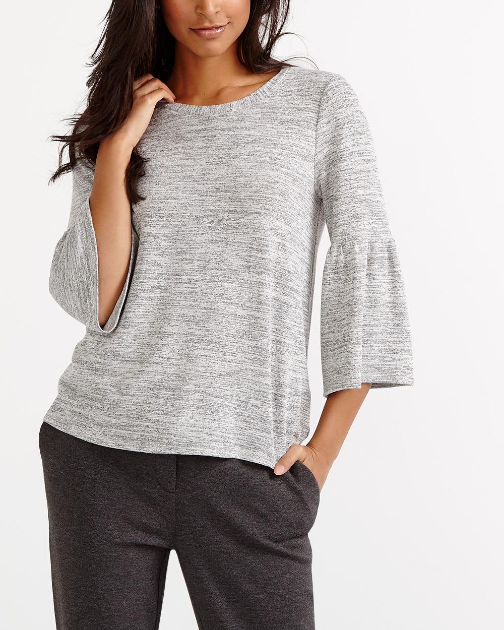 Bell sleeve t shirt women reitmans for Bell bottom sleeve shirt