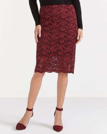 Lace Skirt with Scalloped Hem