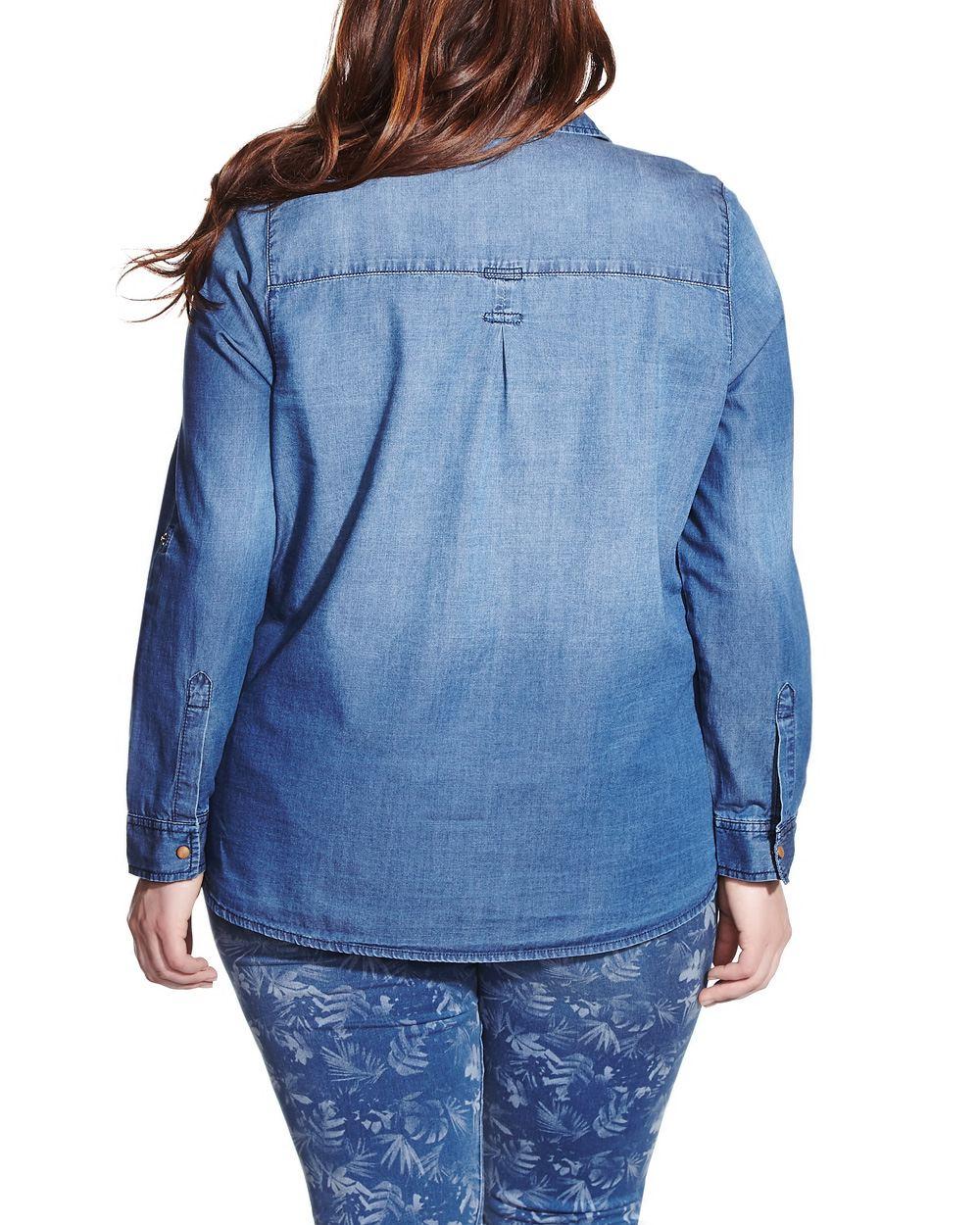Denim Blouse Plus Size