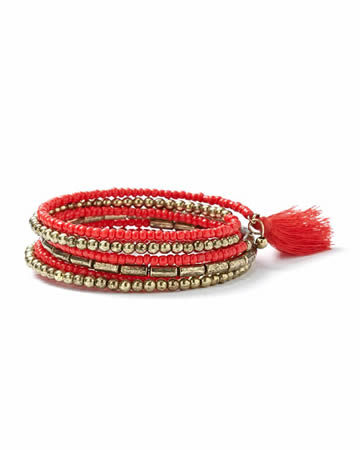 Bracelet with Beads and Tassel