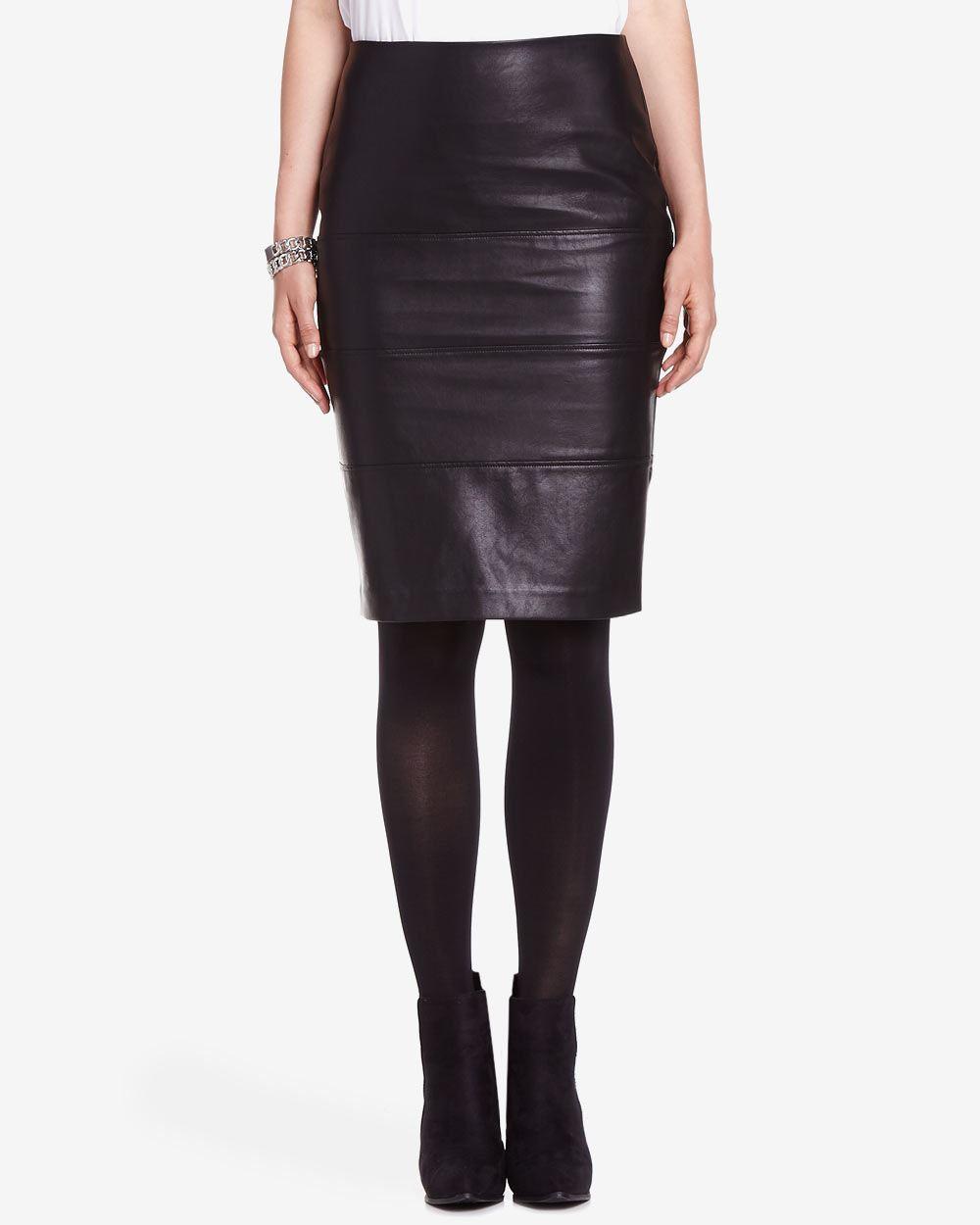 faux leather pencil skirt reitmans