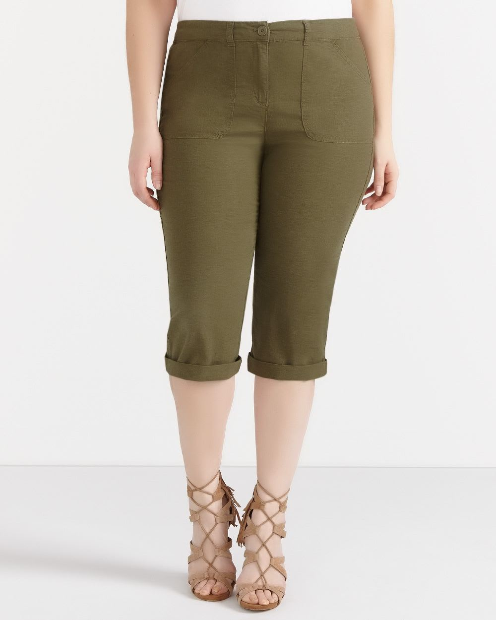 Plus Size Linen Capris | Plus Sizes | Reitmans