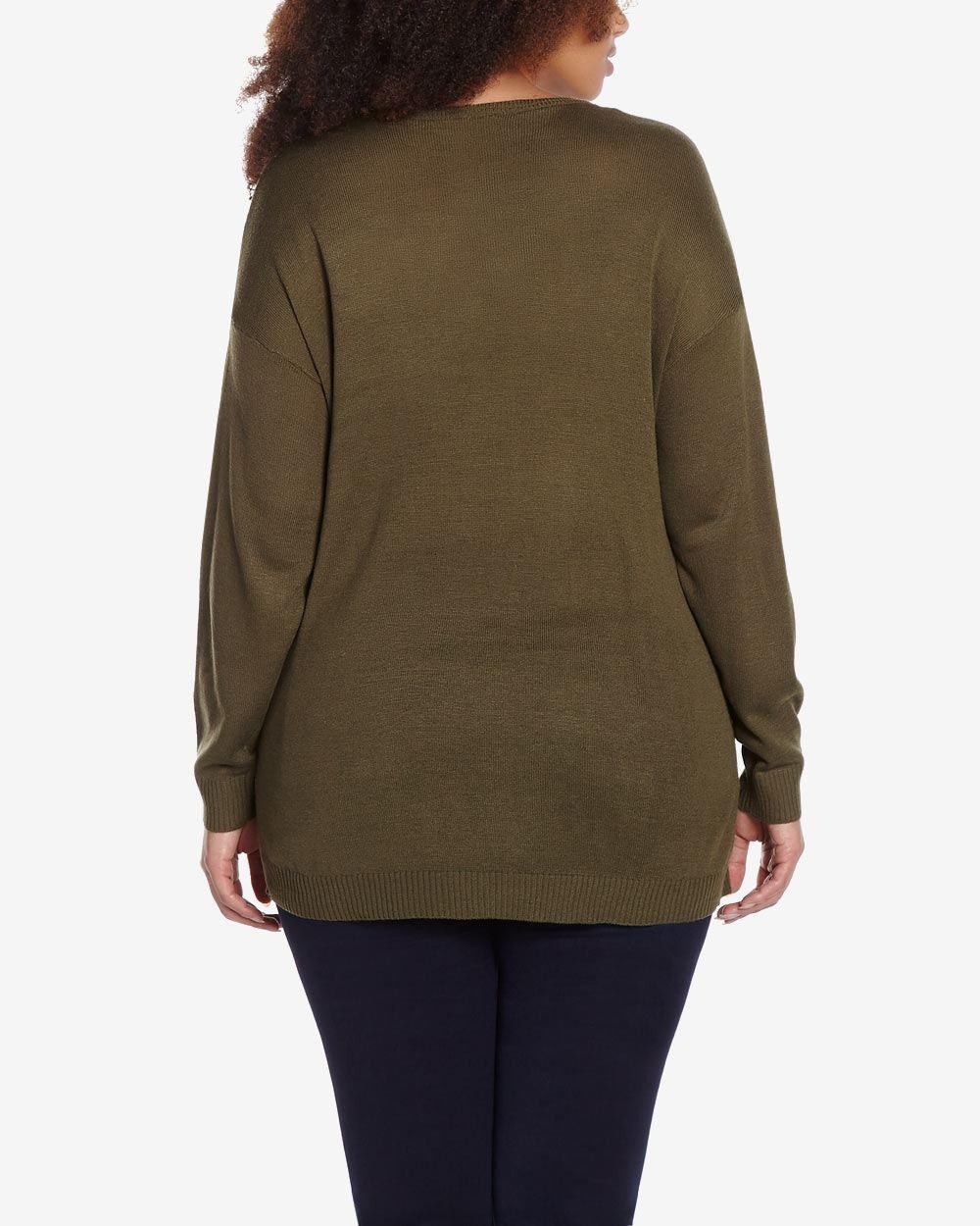 V Neck Sweater Plus 93
