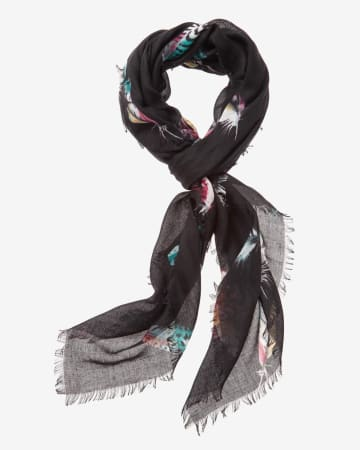 Feather Printed Scarf