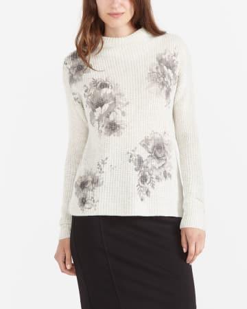 Long Sleeve Printed Sweater