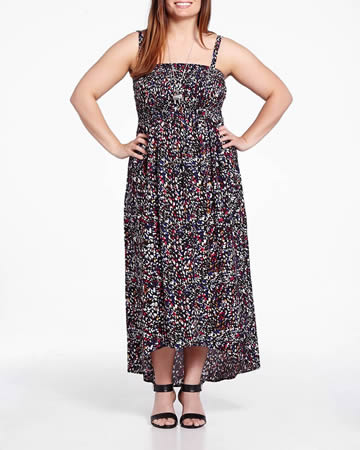 Plus Size Maxi Dress with Removable Straps