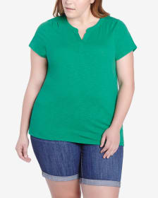 Plus Size Solid Tee