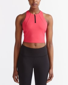 Hyba Zip Crop Top