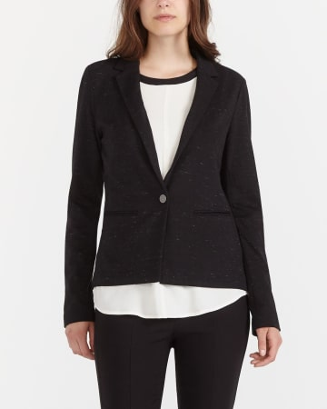 Long Sleeve Knit Blazer