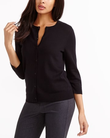 R Essentials ¾ Sleeve Cardi