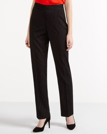 Petite Slim Leg Striped Pants