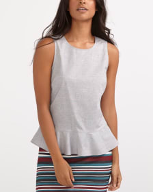 Sleeveless Peplum Blouse