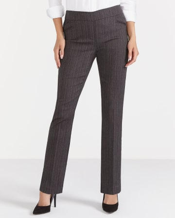 The Iconic Straight Leg Textured Pants