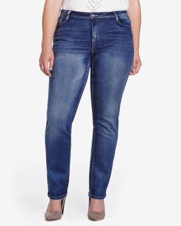 Plus Size Only Denim Straight Leg Jeans