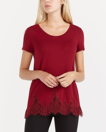 Lace Short Sleeve T-Shirt
