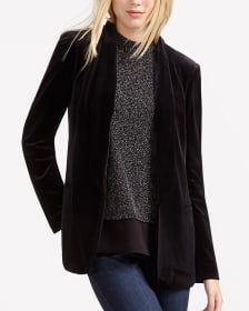 Long Sleeve Velvet Blazer