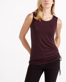 Ruched Sleeveless Top