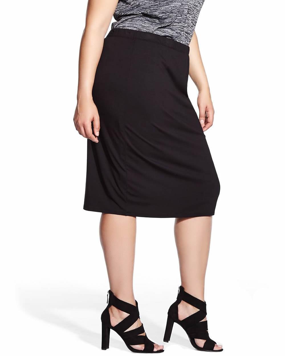 plus size midi skirt plus sizes reitmans