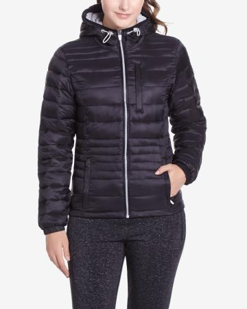 Hyba Black Quilted Coat