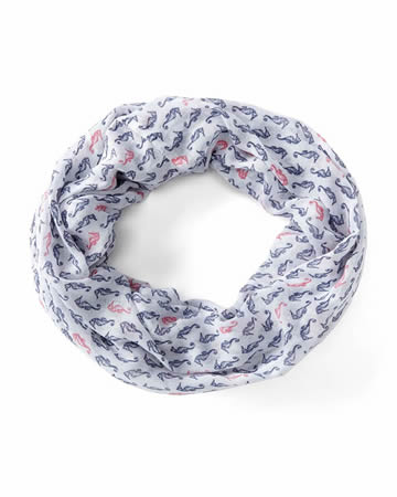 Seahorse Print Infinity Scarf