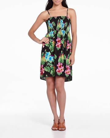 Printed Dress with Removable Straps