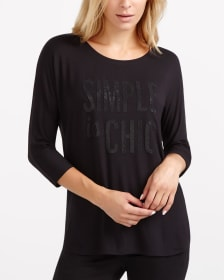 """Simple Is Chic"" Fashion T-Shirt"