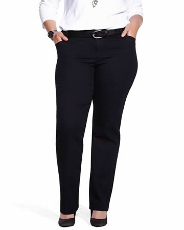 Plus Size Smart Straight Leg Jeans