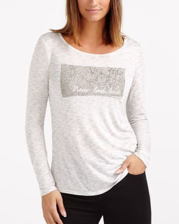 Long Sleeve Space Dye Top
