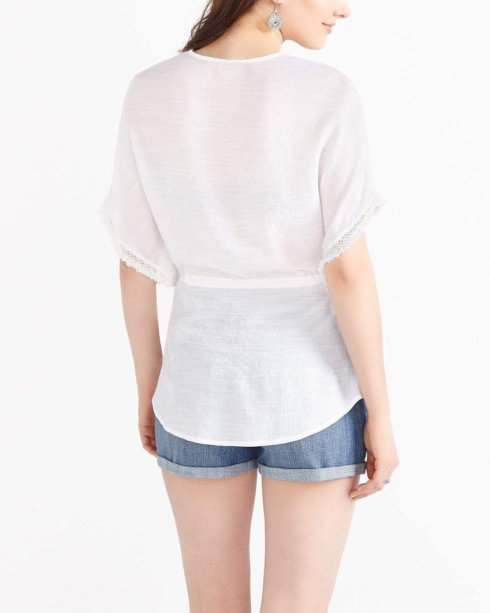 White Poncho Blouse 62