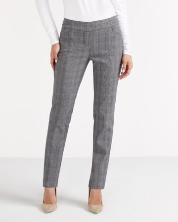 The Tall Iconic Straight Leg Plaid Pants