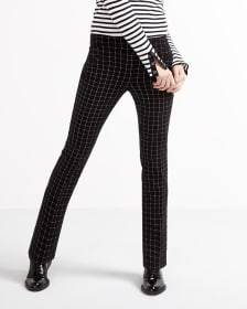 The Petite Iconic Straight Leg Plaid Pants