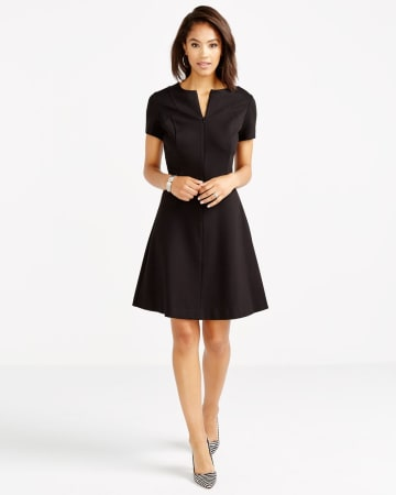 Short Sleeve Zip Dress