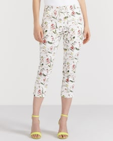 Sateen Cropped Pants