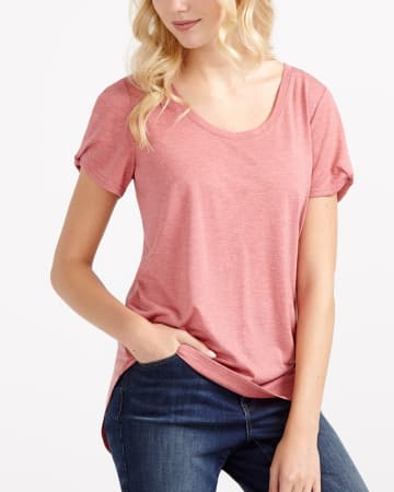 Asymmetric Short Sleeve Tee
