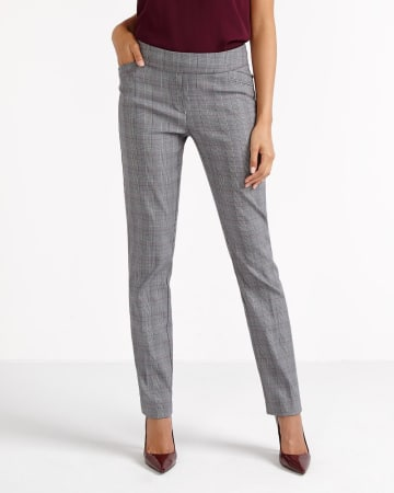 The Petites Iconic Straight Leg Plaid Pants