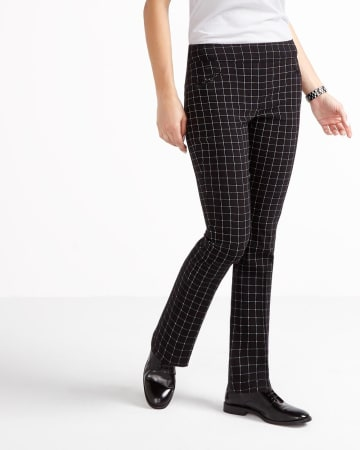 The Iconic Straight Leg Plaid Pants