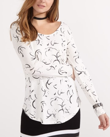 Printed Long Sleeve Tee