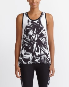 Hyba Printed Colourblock Tank