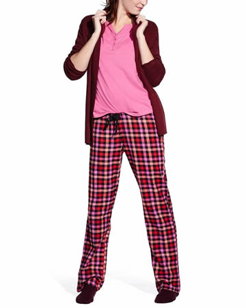 Flannel Pyjama Set with Plaid Print