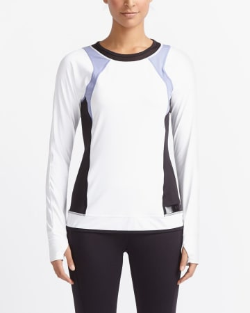 Hyba Long Sleeve Colourblock Tee