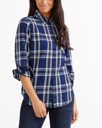 Plaid Jeans Shirt