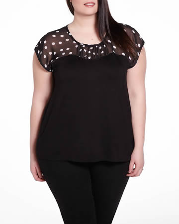Plus Size Cap Sleeve Tee