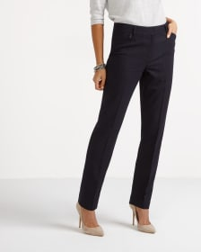 The New Classic Straight Leg Pinstripe Pants