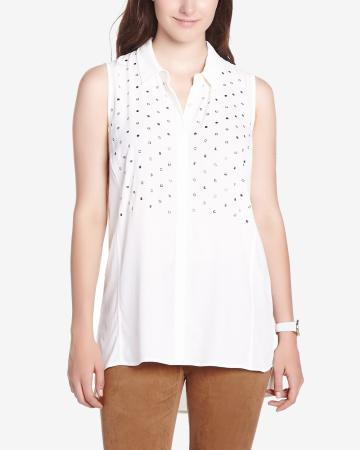 Embellished Sleeveless Blouse