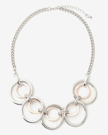 Tone on Tone Circle Necklace