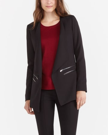 Long Open Front Blazer