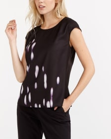 Willow & Thread Mix Media Printed Blouse