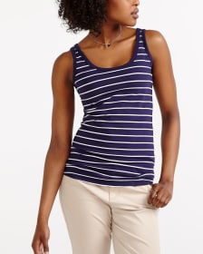 R Essentials Striped Must-Have Tank