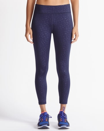 Hyba Fast Track Embossed Cropped Legging